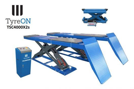 Afmetingen TyreON TSC4000X2 rijbanen hefbrug
