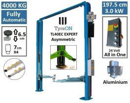 TyreON TL40EC EXPERT asymmetrische twee koloms hefbrug 380V - drempelvrij