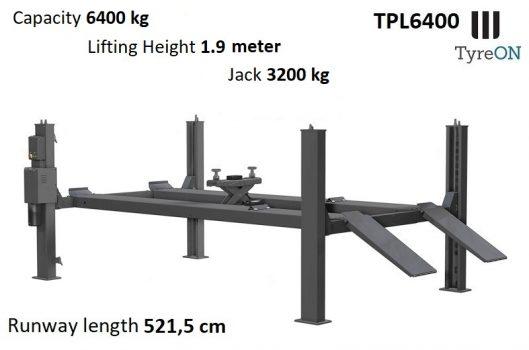 TyreON TPL6400 4 koloms hefbrug - rijbanen 5.2 meter